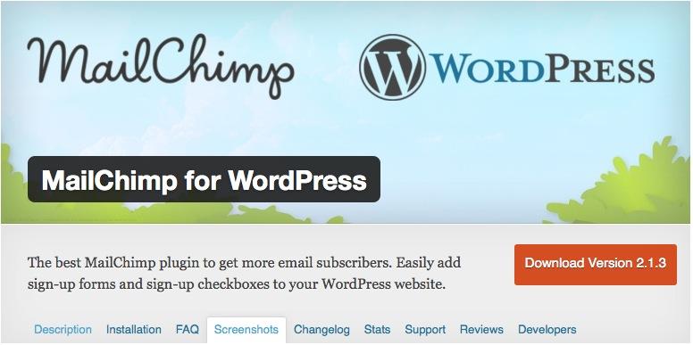 Cómo instalar MailChimp para WordPress paso a paso