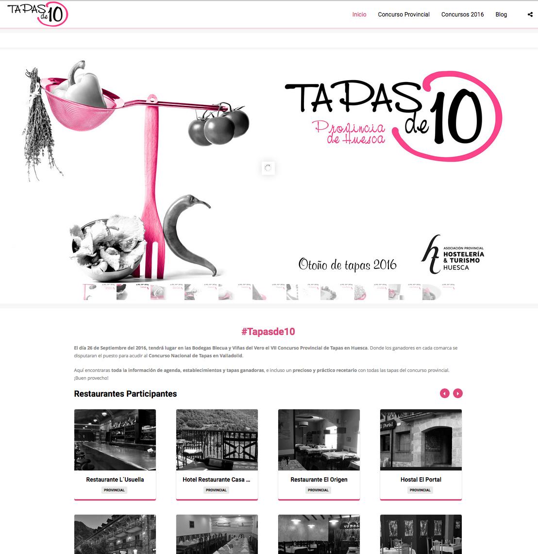 Nuevo Proyecto «Tapas de 10»