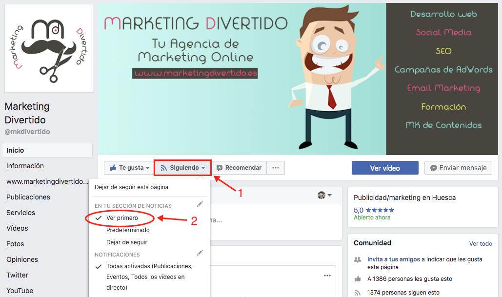 Cómo seguir viendo las publicaciones de tus páginas favoritas de Facebook tras el cambio de algoritmo